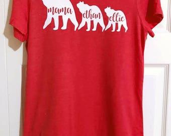 Mama and Bear Cubs Tee Shirt