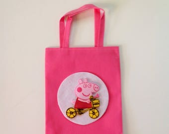 10 Pcs Peppa Pig Party Bag Treat Bags Goodie Bags Candy Bags Peppa Party Goody Bags