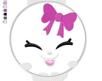 Shopkins Kelsey Compact Applique Embroidery Design - INSTANT DOWNLOAD