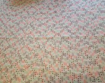 Handmade Crochet Diamond Pattern Baby Blanket