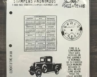 Tim Holtz Elements of Time Rubber Cling Stamps