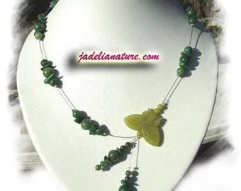 The Transvaal Jade and Malachite, natural stone necklace
