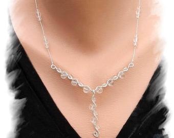 Rock Crystal Necklace, 925 Silver