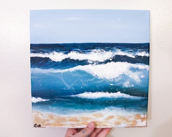 Waves Acrylic Canvas Painting