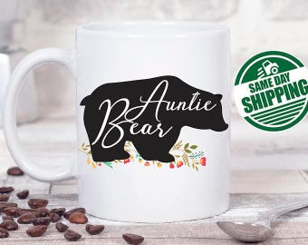 auntie mug, aunt mug, auntie bear mug, auntie mug, auntie gifts, aunt coffee mug, aunt gift, aunt gifts mug, aunt mug funny, auntie bear