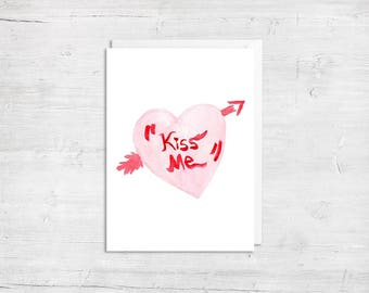 Cupids Heart Valentines Day Greeting Card - Anniversary Card