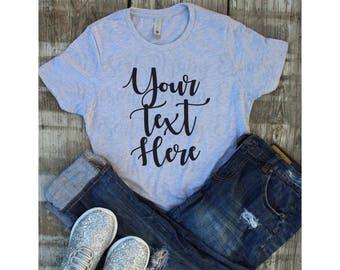 Tshirt Mockup / Realistic Tshirt Mockup / Jeans and Tee Mockup / Vinyl Business Mockup / Ladies Tshirt Mockup / Trendy Tshirt Mockup