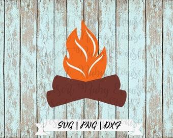 Campfire SVG / Multi-Color Campfire SVG / Easy to Use SVG / Camping svg / Camping Shirt Design / Campfire Wood svg / campfire flame svg