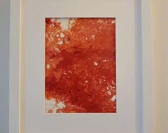 "Framed Original Abstract Acrylic Wall Art Artwork - Name: ""Red Mundi"""