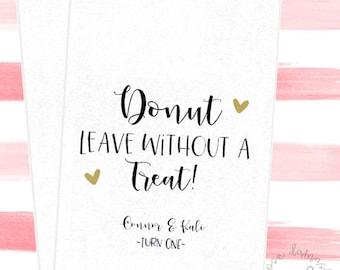Donut leave, Favor Bags, Popcorn Bags, Wedding Candy Buffet, Candy Bags, Buffet Bags, Cookie Bags, Wedding Favors, RD52