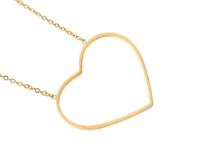 Free shipping within NL chain Heart goldplated