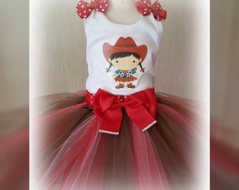 Red Cowgirl Tutu