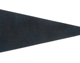 12 Charcoal Gray Felt Blank Pennant Flag