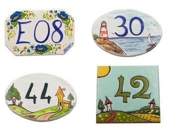 Civic numbers in ceramic