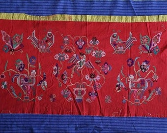 Chinese pick embroidery for housewarming or bag or clothing