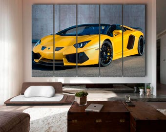 Huamann lamborghini aventador Lamborghini Aventador print   Lamborghini canvas Lamborghini Wall Art Lamborghini Art Lamborghini Decor