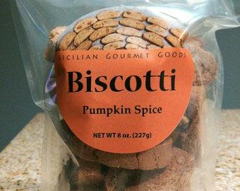 Sicilian Pumpkin Spice Almond Biscotti