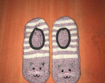 Kitty Cat Sock/Slippers