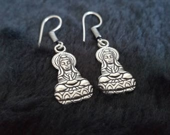 Buddha Earrings - Buddhism, Spirituality, Meditation, India
