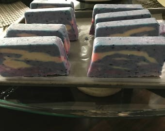 Natural Hand Crafted Soap - Captured From the Sky Cherry Honey Almond Soap