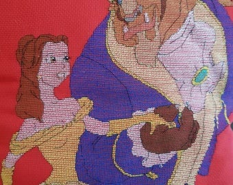 """Pillow of """"beauty and the beast"""""""