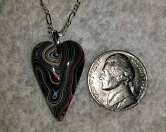 Fordite handcrafted one of a kind pendant