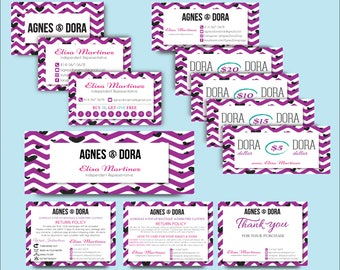 Agnes and Dora Kit, Agnes and Dora Marketing Set, Agnes Dora Custom card, Agnes Dora Marketing Printable Card