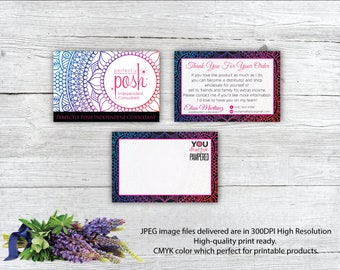 Perfectly Posh Thank You Cards, Perfectly Pos Postcard, Post Card Printable Digital, Printable Digital Printed, Personalized Cards PO01