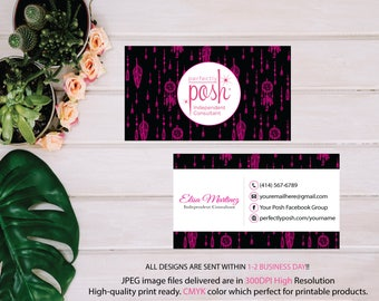 Perfectly Posh Business Cards, Custom Perfectly Posh Card, Watercolor Business Card, Printable Digital Printed, Personalized Cards PO10