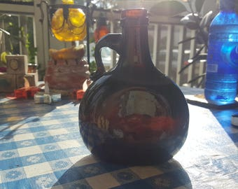 Circa 1700-1750 English Rum bottle,single,handblown glass