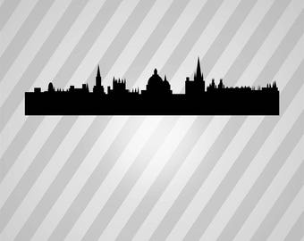 England Skyline Silhouette Skyline - Svg Dxf Eps Silhouette Rld RDWorks Pdf Png AI Files Digital Cut Vector File Svg File Cricut Laser Cut