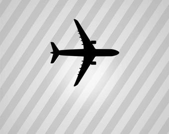 Airplane Silhouette Boeing Plane- Svg Dxf Eps Silhouette Rld RDWorks Pdf Png AI Files Digital Cut Vector File Svg File Cricut Laser Cut