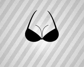 bra and breast Silhouette - Svg Dxf Eps Silhouette Rld RDWorks Pdf Png AI Files Digital Cut Vector File Svg File Cricut Laser Cut