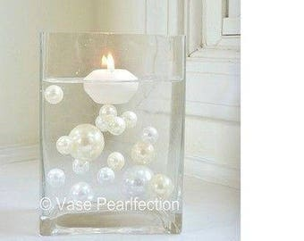 Ivory Pearls/Champagne Pearls and White Pearls Vase Fillers in Jumbo & Assorted Sizes for Centerpieces and Tablescapes