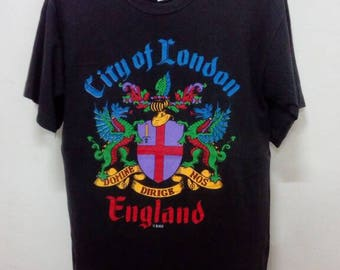 Rare!! Vintage!! City Of London Promo Shirt Big Logo