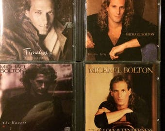 Michael Bolton 4 CD Lot  - Timeless, The Hunger, The One Thing, Time, Love & Tenderness