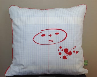 Cushion cover / pillow cover red dunce