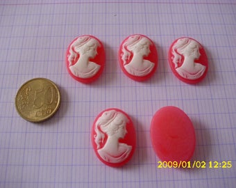 """5 """"marquise"""" 29X22mm resin cabochons"""