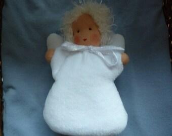Whale village Angel, Waldorf dolls, lucky charm, guardian angel, Christmas, advent, gift for girls, school, kindergarten start,