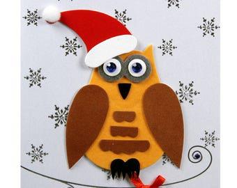 Christmas card / new year OWL Nicolas