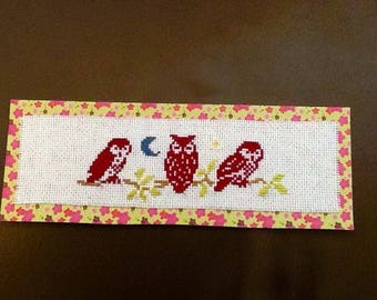 Label Page owls on a branch