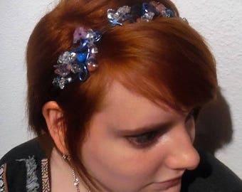Aluminum and pearls headband