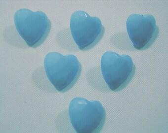 LOT 6 buttons: heart 14mm
