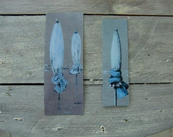 Set of bookmarks: umbrellas
