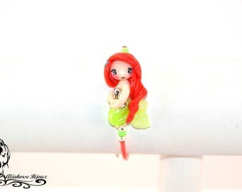 Polymer clay Little Mermaid child bracelet