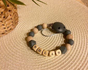 personalize hand-made pacifier clip