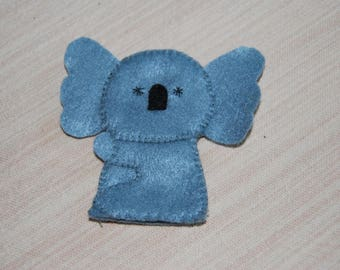 felt finger puppet animals koala