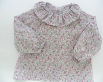 Blouse LIBERTY Eloise pink ml 1/3/6/12/18 months (largest possible size)