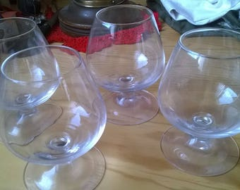271) large Cognac glasses