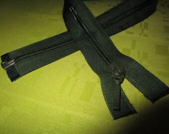 Dark separable green color nylon closure